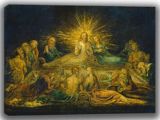 Blake, William: The Last Supper. Fine Art Canvas. Sizes: A4/A3/A2/A1 (003551)